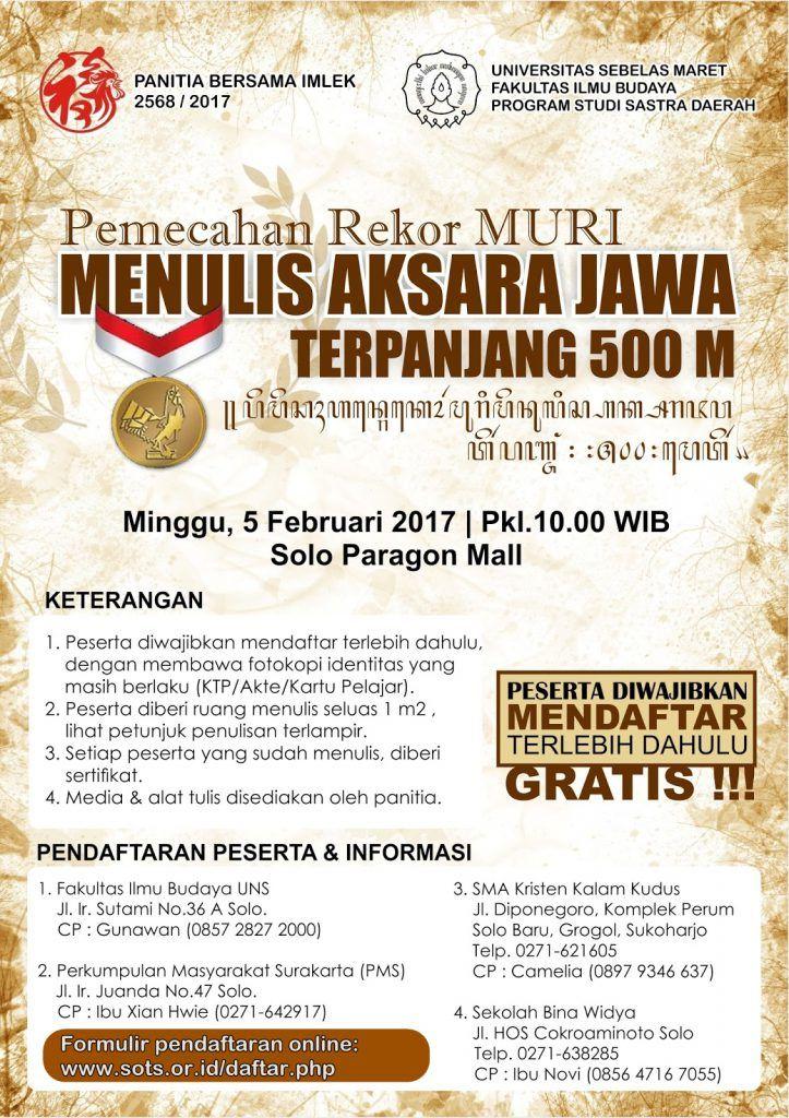 Javanese Script Writing