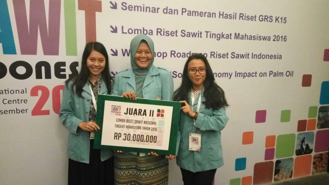 National Research Competition on Oil Palm for College Students: UNS Awarded Runner-up