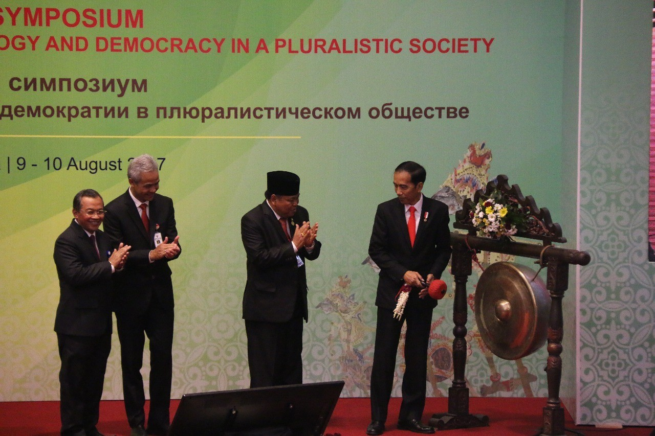 President Joko Widodo opened International Symposium of the Association of Asian Constitutional Courtsand Equivalent Institutions