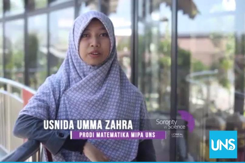 Usnida Umma Zahra, a student of Mathematics Study Program UNS
