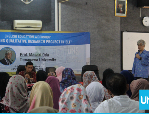 Inviting Professor from Japan, English Education Department UNS Held Qualitative Research Design Workshop