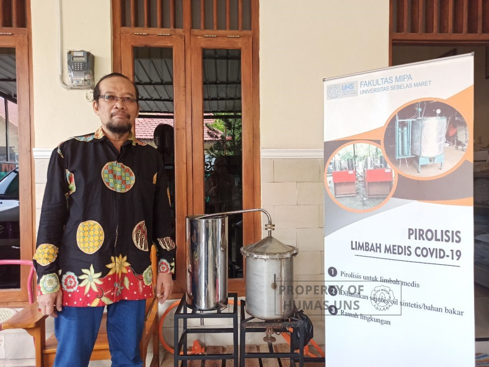 Handling Domestic Waste and Covid-19 Medical Waste, UNS Researcher Creates Pyrolysis Tools