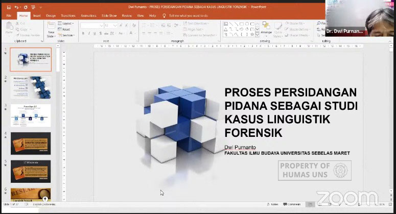 UNS Linguistic Expert Shared Forensic Linguistic Case Study in Criminal Trial