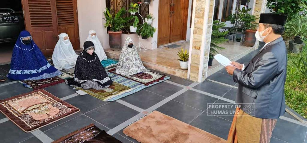 Following the Government Suggestion, The Rector of UNS Celebrate Eid Al Adha from Home
