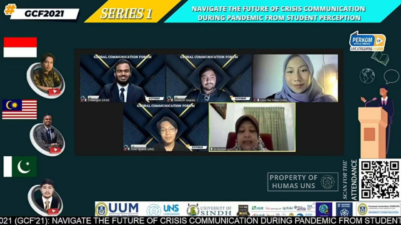UNS Communication Science Student Represent Indonesian to Discuss Communication Crisis Amid the Covid-19 Pandemic in the Global Communication Forum