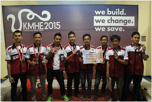 (Dari kiri-kanan) Bayu Sutanto, Vidi Fajri, Rifki Dwi Putranto, Muhammad Andy Anzi, Dicky Agus Triono, Makhiyas Subkhi, Genta Praha Picaso, dan M. Ivan (supporting member).